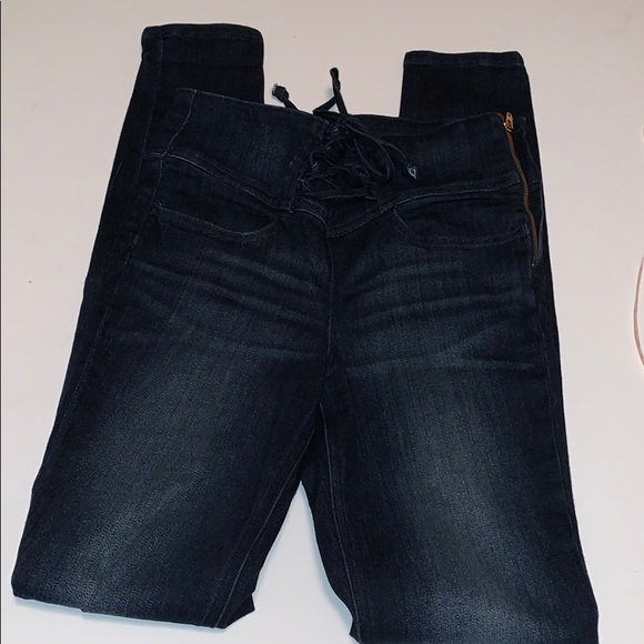 Express Tie Waist Legging Jeans